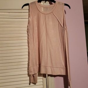 Sweaters - Light Pink Off Shoulder Sweater